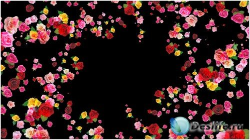 Футаж с альфаканалом - Розовый вальс