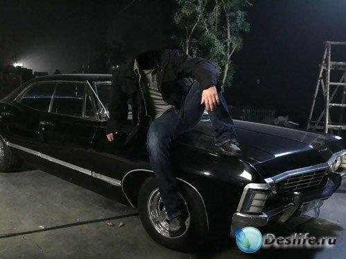 Костюм для мужчин - На машине Chevrolet Impala