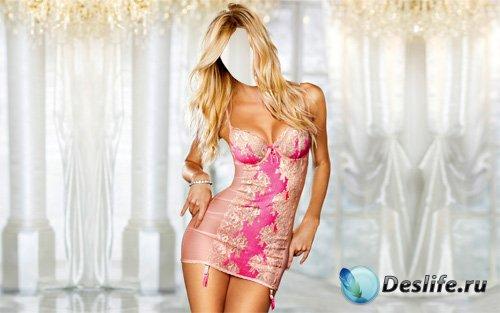 Женский костюм - Блондинка в шикарном платье
