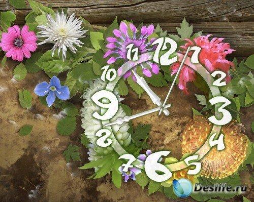 Скринсейвер - Цветочные часы