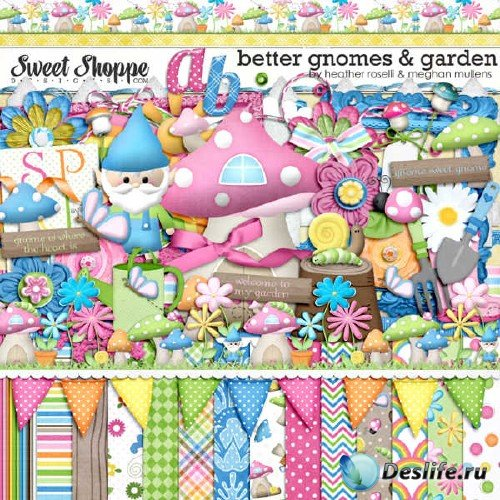 Цифровой скрап-комплект - Better Gnomes Garden