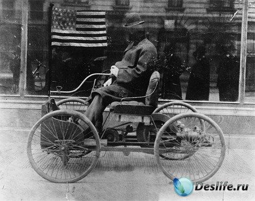 Костюм мужской - Старинный автомобиль в Америке