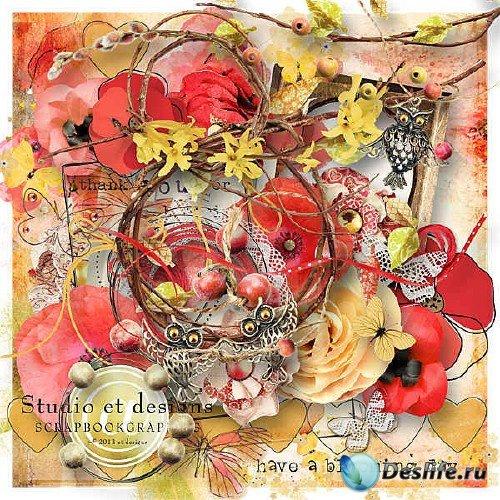 Красочный скрап-комплект - Have a blooming day