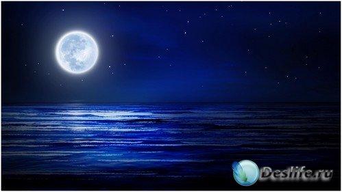 Футаж высокого качества - Море ночью