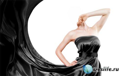 Костюм для фотошопа - В шикарном черном платье