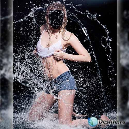Костюм для фотомонтажа - Красотка в воде