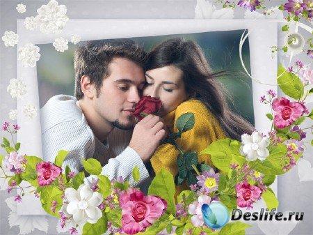 Романтическая рамка для photoshop - Нежности мгновения
