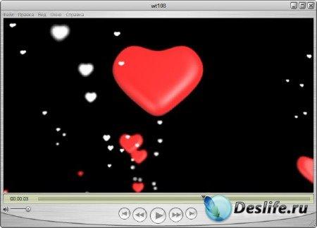 Футаж с альфаканалом романтический - Сердца дорогие