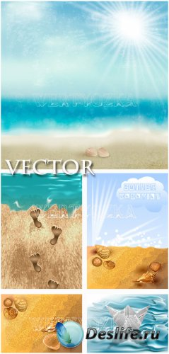 Лето и море / Summer and sea - vector clipart