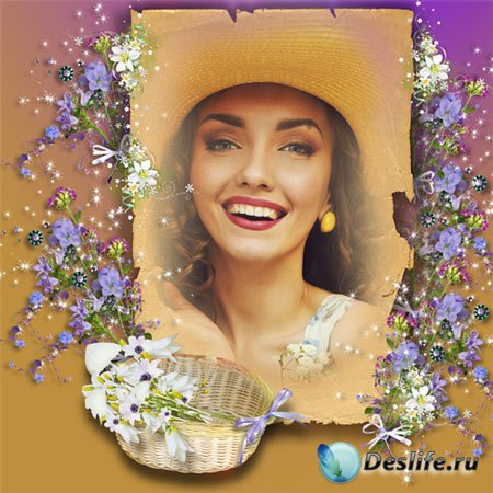 Рамка женская – Полевые цветы