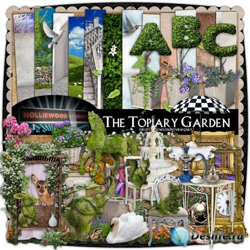 Изумительный скрап-комплект - Топиартный сад
