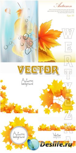Осень, осенние листья / Autumn, autumn leaves - vector