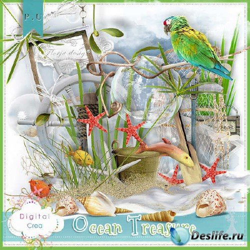 Цифровой скрап-комплект - Ocean Treasures