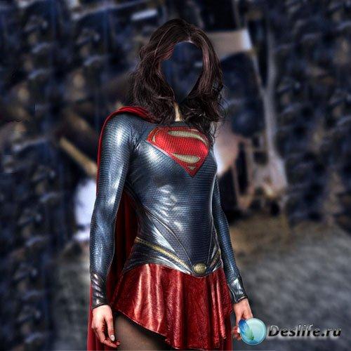 Костюм для фотомонтажа - Супер девушка в костюме