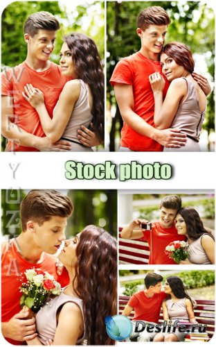 Молодая влюбленная пара, мужчина и женщина / Young couple in love, man and  ...
