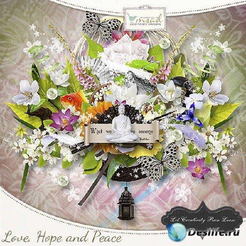 Цифровой скрап-комплект - Любви, надежды и мира