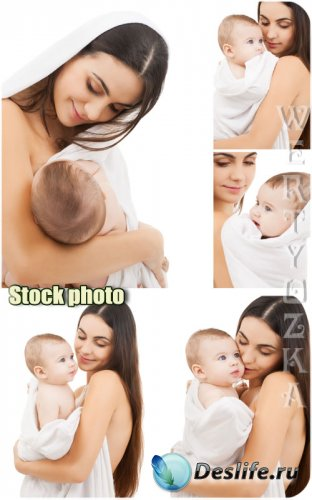 Мать и дитя / Mother and Child - Raster clipart