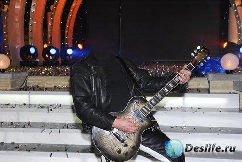 Костюм для photoshop - Певец с гитарой