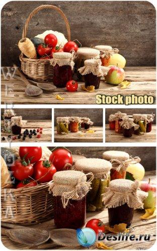Консервация фруктов и овощей / Conservation fruits and vegetables - Raster  ...