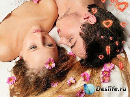 Прекрасный романтический футаж - Пламенные сердца