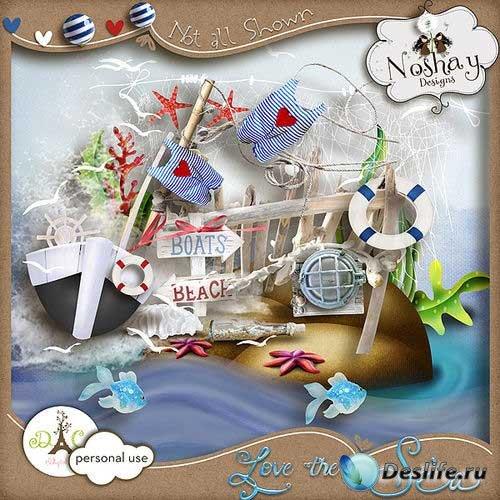 Морской скрап-комплект - Люблю море