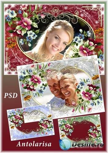 Цветочная рамка для фото – Вдохновение