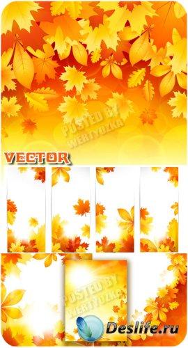 Осенние фоны и баннеры / Autumn backgrounds and banners - vector