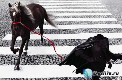 Костюм для фотошопа - Прогулка с прекрасной лошадью на переходе