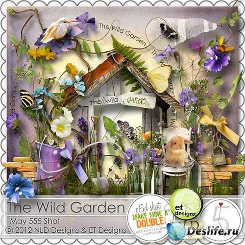 Яркий летний скрап-комплект - Дикорастущий сад