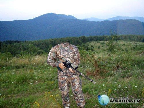 Костюм для фотомонтажа - Снайпер на задании