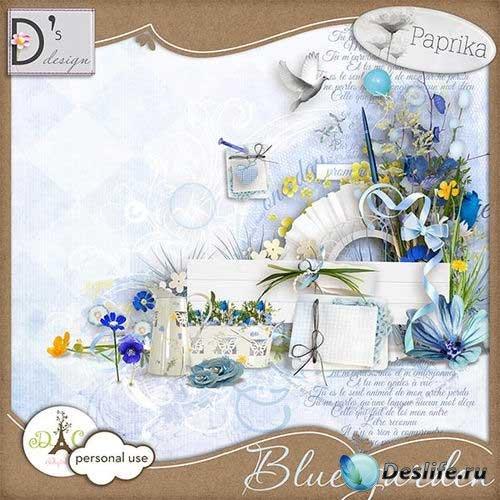 Цветочный скрап-комплект - Голубой сад