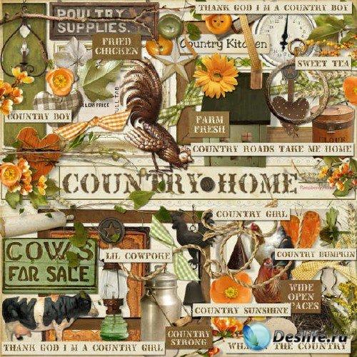Комплект для скрапбукинга - Country Home