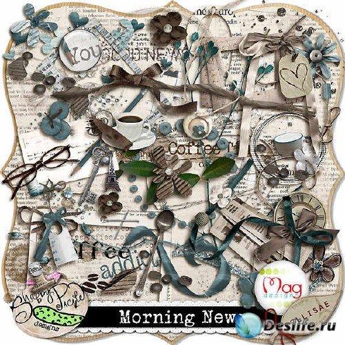 Цифровой скрап-комплект - Morning news
