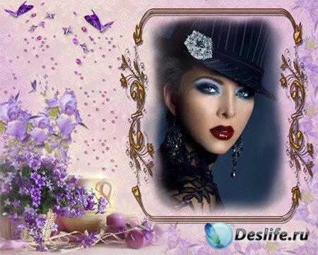 Рамка женская – Изысканные цветы