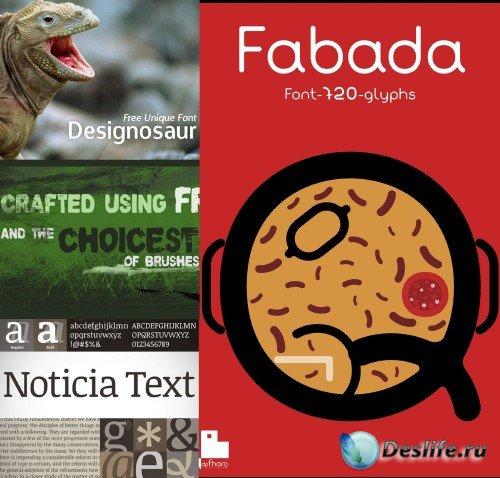 Font DK Nutnik, noticatext, Fabada, dknutthink