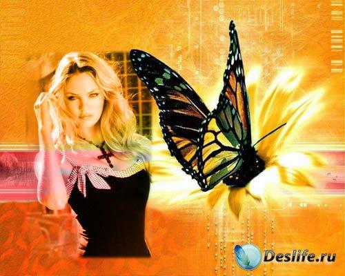 Женская рамочка - Цифровая бабочка