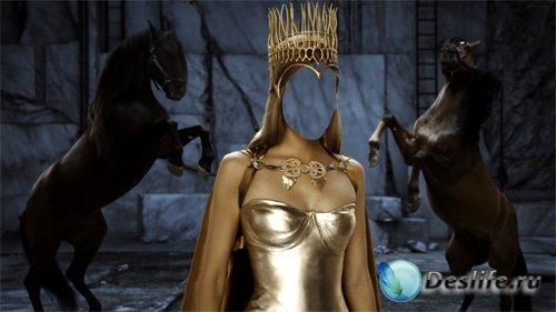 Костюм для девушек - Королева с короной и лошади