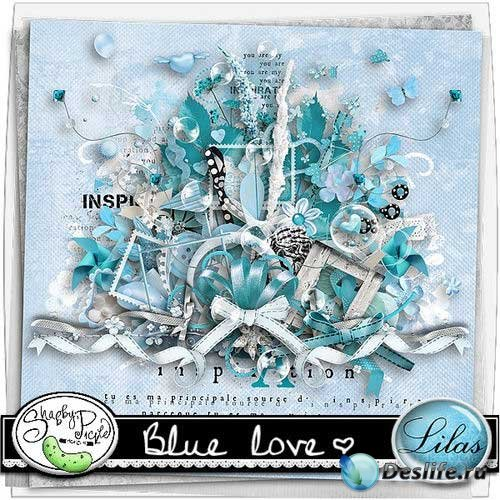 Романтический скрап-комплект - Любовь в голубом