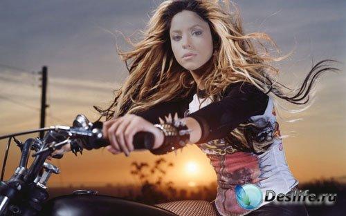 Костюм женский - Поездка на мотоцикле вечерком