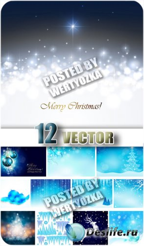 Новогодние фоны, елка, олень и новогодние игрушки / Christmas backgrounds - ...