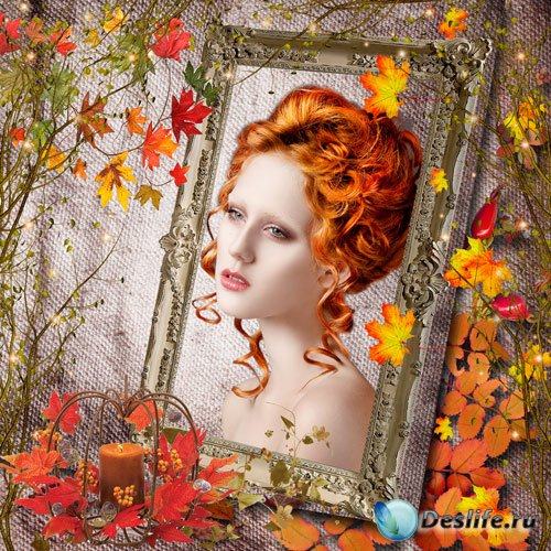Рамка для фото – Осенью...