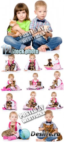 Дети и животные / Children and animals - stock photos