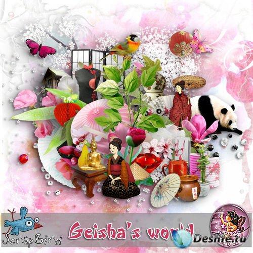 Восточный скрап-комплект - Мир гейшы