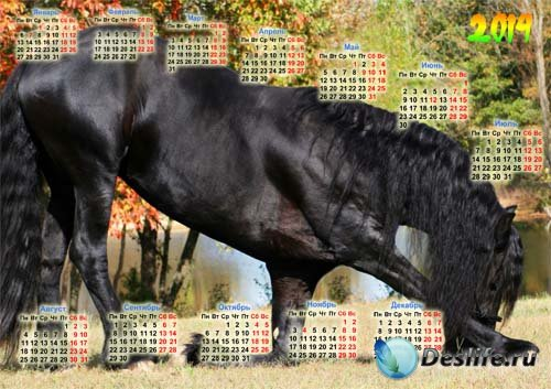 Календарь - Шикарная лошадка кланяется