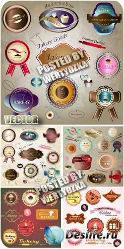 Продуктовые этикетки в векторе / Food labels in the vector