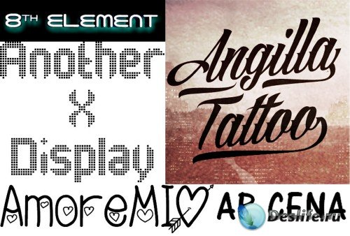 Fonts 8 thelement, AmoreMIO, Another X Display