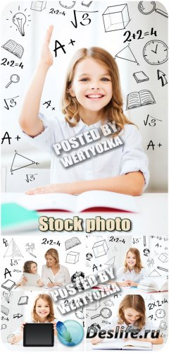 Школьные уроки, девочка школьница / School lessons, girl schoolgirl - stock ...