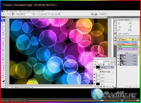 Обучающее видео для фотошопа - Как создать боке в фотошопе
