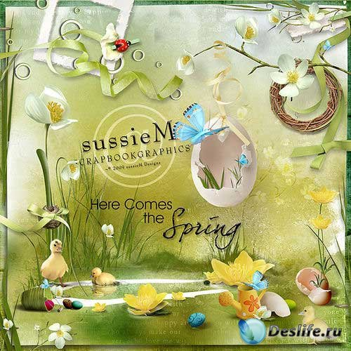 Весенний скрап-комплект - Сюда пришла весна