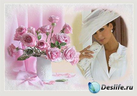 Рамка женская – Как хороши, как свежи были розы